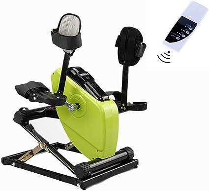 Pedal eléctrico ejercitador, con el Monitor LCD de Control Remoto de Bicicleta de Ejercicios para la Rodilla de la Pierna del Brazo del Pedal de recuperación ejercitador Vendedor Ambulante: Amazon.es: Deportes y