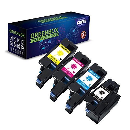 GREENBOX Compatible Toner Cartridge Replacement for Xerox WorkCentre 6027 6025, Xerox Phaser 6020 6022 (1 106R02759 Black, 1 106R02756 Cyan, 1 106R02757 Magenta, 1 106R02758 Yellow, 4-Pack)