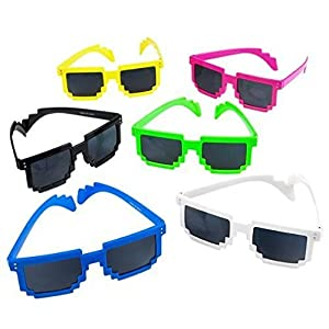 AfterthoughtRI 652043905370 Sunglasses Pixel Style Party Theme,Grab Bag Item,Summer time Fun 6pc, Unicorncake-310, w