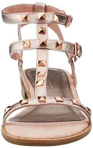 28102 Caviglia Sandali Cinturino Rosa Tozzi alla Donna Rose con Metallic Marco 4Yqfwx