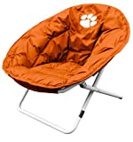 Clemson University Tigers Sphere Folding Papasan Chair