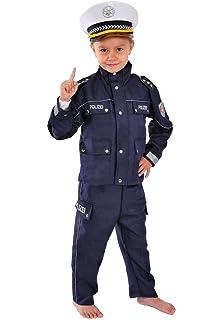 Polizei Kinder Kost/üm 122-128 f/ür Fasching Karneval Polizist