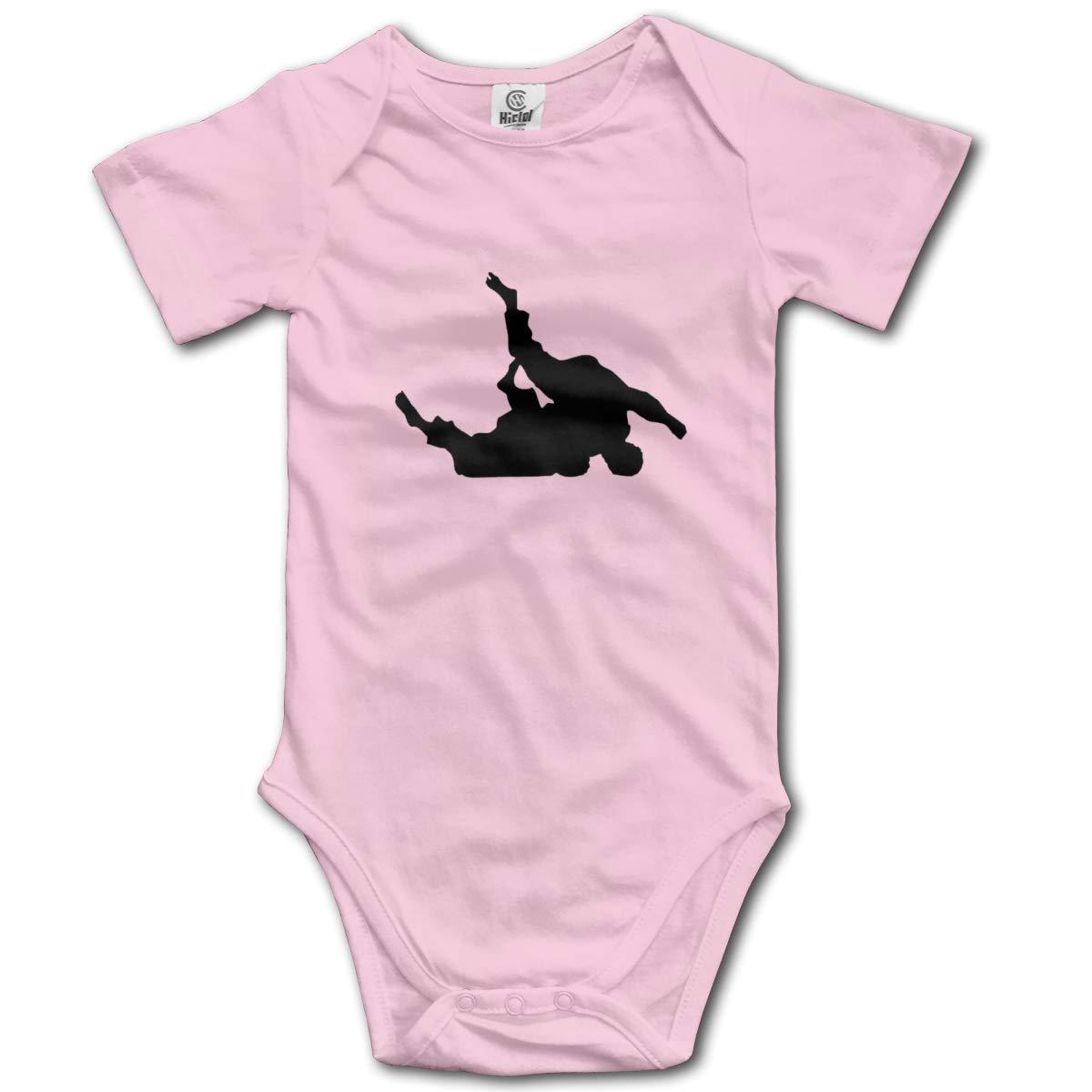 Coollifea Judo Baby Romper 0-18 Months Newborn Baby Girls Boys Layette Rompers Black