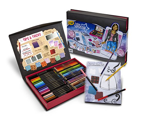 Crayola Fashion Superstar, Coloring Book and App, Toy for Girls, Gift Ages 8, 9, 10, 11, 12 JungleDealsBlog.com