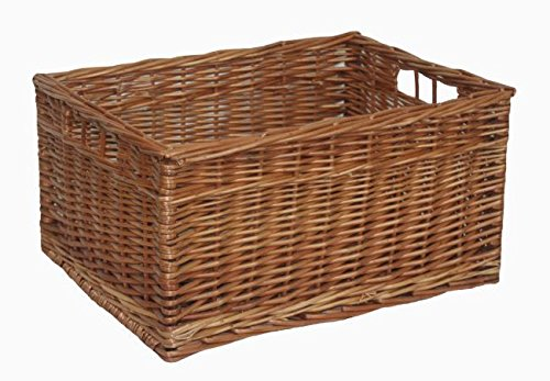 Double Steamed Open Wicker Storage Basket Extra Large by Red Hamper