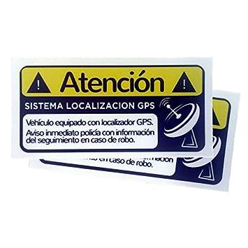 2 Pegatinas disuasorias Interior Cristal localizador GPS vehiculos: Amazon.es: Electrónica