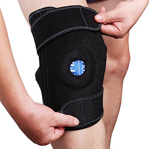 Gel Ice Pack with Knee Brace Wrap, LotFancy Hot Cold Therapy, Knee Support for ACL, Meniscus Tear, Orthopedic Injuries, Bursitis, Pain Relief, Arthritis, Tendonitis and Recovery