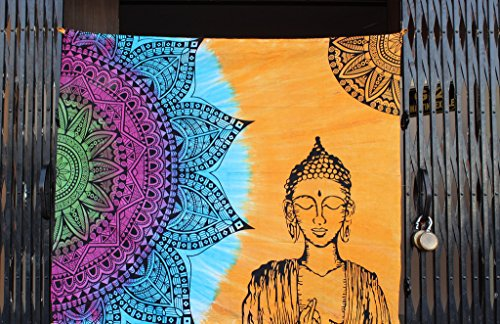 Mandala Decor Tapestry geometry pattern tie dye buddha - Prayer Wall Hanging