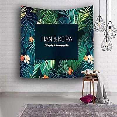 Chica corazón ins Nordic Verde Planta Dormitorio decoración paño ...