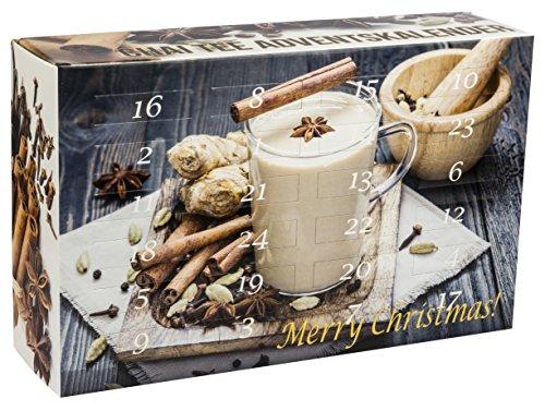 Chai Tee Adventskalender - 24x leckere Chai-Tees für jeden Tag im Advent (100g/5,13€)