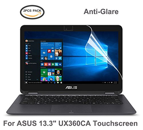 2PCS-PACKASUS-ZenBook-Flip-UX360CA-Screen-Protector-CaseBuy-Anti-Glare-Matte-Whole-Screen-Protector-Skin-for-ASUS-ZenBook-Flip-UX360CA-133-inch-Touchscreen-2-PicecesPack