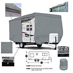 Deluxe SavvyCraft 17\' -18\' Travel Trailer - Breathable and Water Repellant Travel Trailer Camper Cover