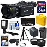 Canon Vixia HF G40 Wi-Fi 1080p HD Digital Video Camcorder with 64GB Card + Battery & Charger + Hard Case + Tripod + LED + Mic + Tele & Wide Lens Kit