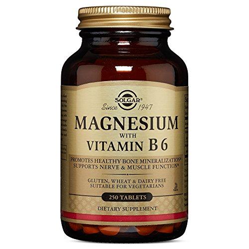 Solgar – Magnesium with Vitamin B6, 250 Tablets