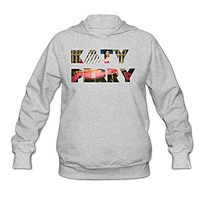 SHUMY Katy Perry Women's Graphic Hooded Sweatshirt Ash