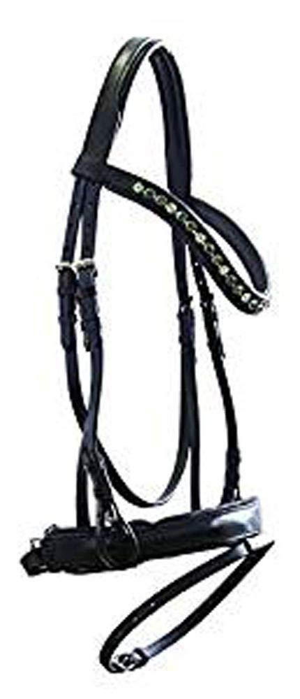 Alta qualità Svedese Trense 863 in pelle nero nuovo incl. Redini, Pony