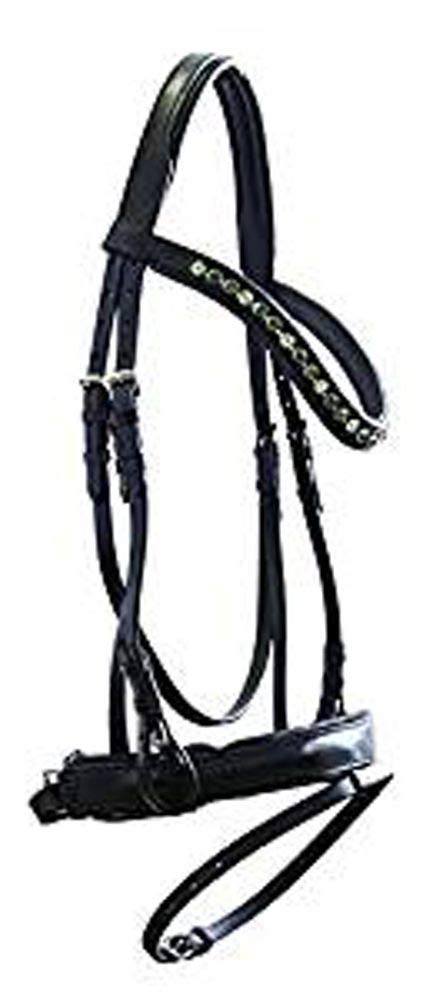 Pony High Quality Swedish Snaffle 863 Leather Black New with Reins