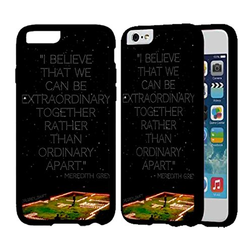Merder House Of Candles Grey S Anatomy Case For Apple iPhone 6 Plus or iPhone 6S Plus Cover Back TPU Rubber Case - White QU