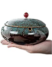"""[Gift Package] 5.7"""" Large Ashtrays for Ceramic with Lids Ash Tray Outdoors Ashtrays for Indoor"""