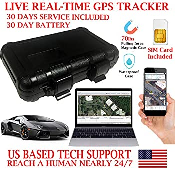 Image of AES RGT30A GPS Tracker Portable Live Real-time Vehicle Locating Tracking Device. PRE-Activated SIM Card with 30 Days Service Included!!! Waterproof Magnetic Case. Works up to 30 Days per Charge. GPS Trackers