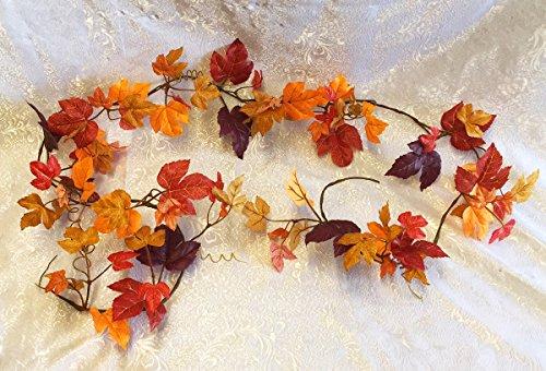 Maple Fall Leaf Garland 6 ft Greenery Ivy Silk Wedding Decoration Flowers Artificial Arrangement Arch Decor Autumn -