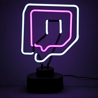 Game Room Decor - Twitch Desk Lamp in Neon - Streaming Studio Decor for Gamers YouTubers and Streamers - Game Room Accessories and Decor - Looks Great white Gaming - Gameroom Lights and wall decor USB: Toys & Games