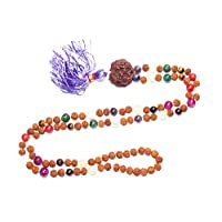 Courage Mala Necklace Rudraksha Beads Gemstone Malas Yoga Gift