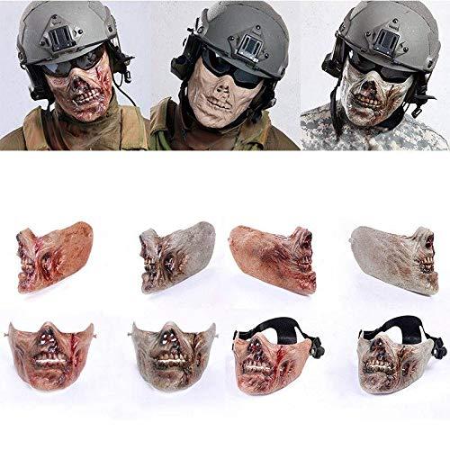 LIShuai Durable Half Face Protection Gear Zombie Skull