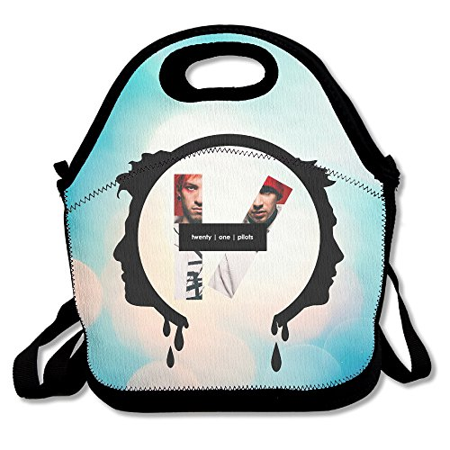 Bekey Twenty-One Pilots Lunch Tote Bag Lunch Box For Women Adults Kids Girls For Travel School Picnic Grocery Bags