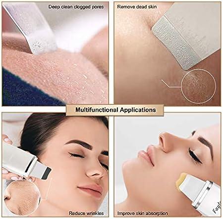 Ultrasonic Skin Scrubber, fayleer Peeling Ultrasónico Facial 4 Modos para Limpiar los Poros y Cuidar la Piel, USB Recargable, Lifting Dispositivo de Belleza Facial