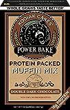 Kodiak Cakes Power Bake, Non GMO, Protein Packed Muffin Mix, Double Dark Chocolate, 14 Ounce - No Preservatives