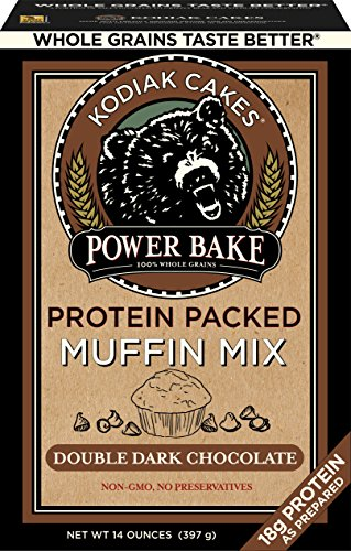 Kodiak Cakes Power Bake, Non GMO, Protein Packed Muffin Mix, Double Dark Chocolate, 14 Ounce - No Preservatives - Muffin Cake Mix