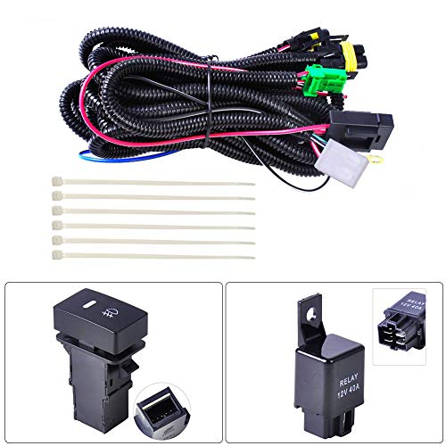 BONNIO Wiring Harness Connector Adaptor Car Radio Cable Connector Car Headlight Fog Light: Amazon.co.uk: Sports & Outdoors