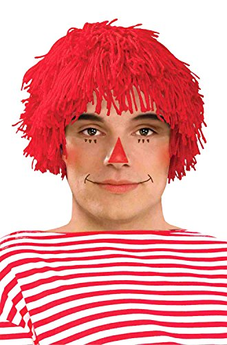 Red Rag Doll Costume (Forum Novelties Rag Doll Boy Wig)