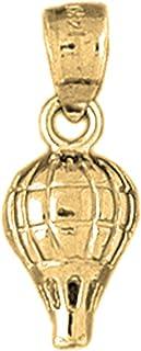 Jewelsobsession de 14K Or jaune 21mm montgolfière Charm pendentif