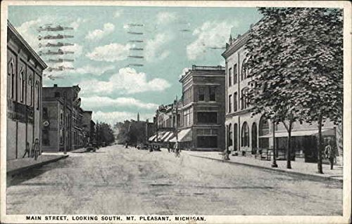 Tint Photo Postcard - Main Street, Looking South Mount Pleasant, Michigan Original Vintage Postcard