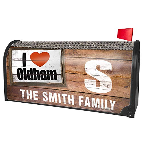 NEONBLOND Custom Mailbox Cover I Love Oldham Region: North West England, England