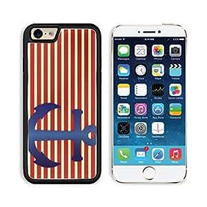 Anchor Blue Red White Stripes Striped 3DCom iPhone 6 Cover Premium Aluminium Design TPU Case Open Ports Customized Made to Order