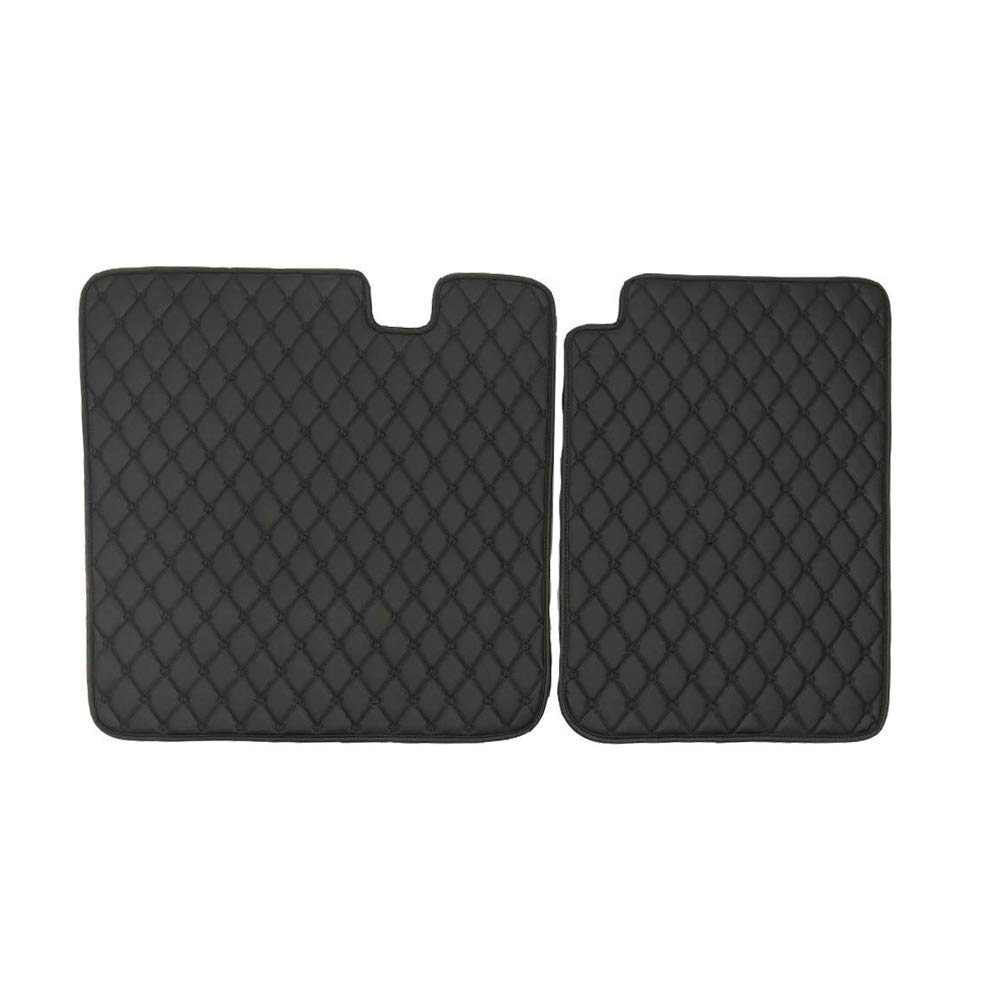 Lmzx Car Front and Rear Trunk Boot Mat 2nd Row Seat Back Protector Mat for Model 3 Black