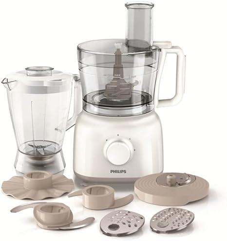 Philips HR7628/01 Daily - Robot de cocina, 650 W, color beige + bol 2,2 l: Amazon.es: Hogar