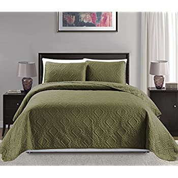 Amazon Com Fancy Collection 3pc Luxury Bedspread Coverlet