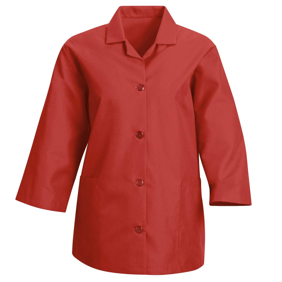 Red Kap Small/Regular Red Smock With Button Closure