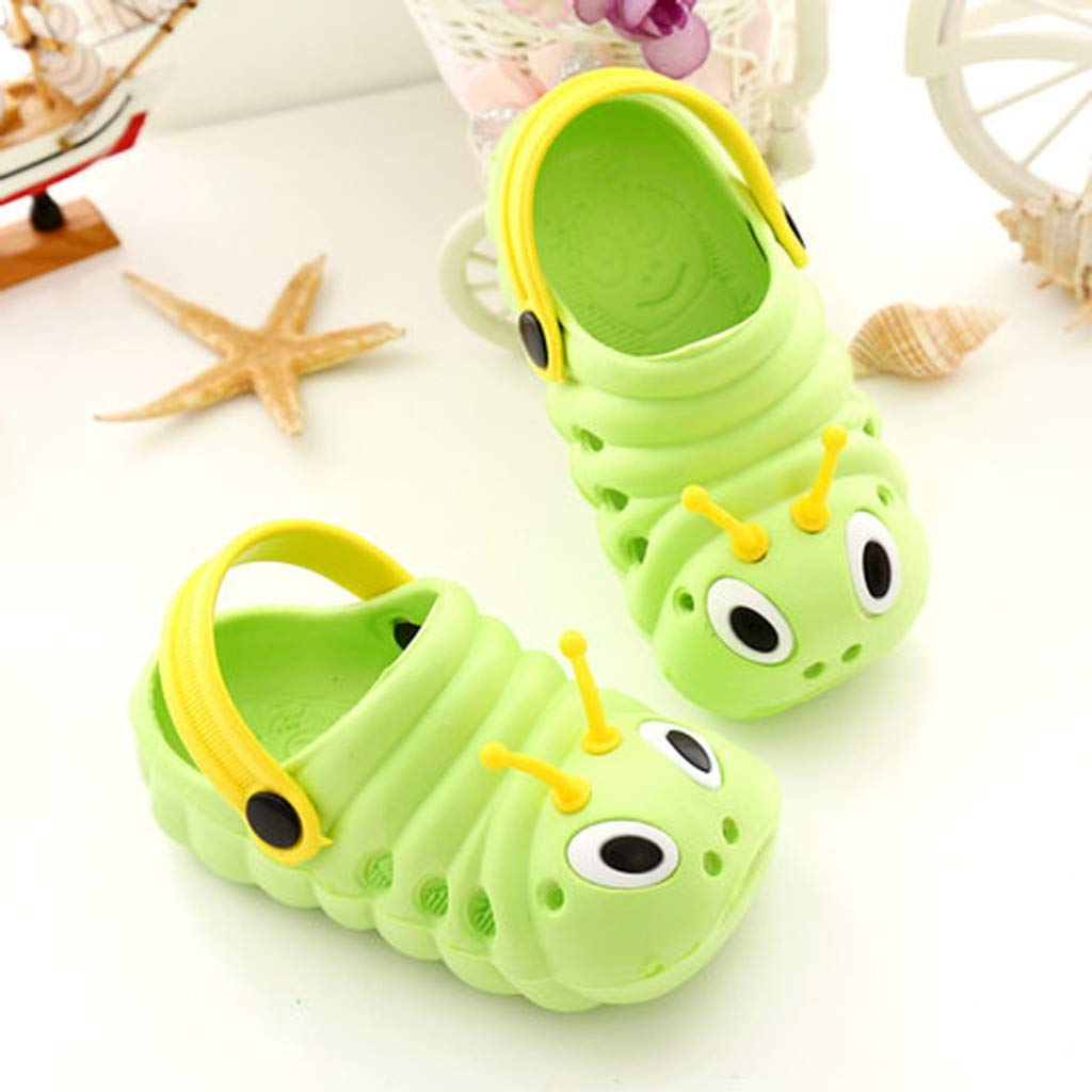 Kids Cute Cartoon Jelly Shoes Sandals Soft Slippers Toddler Boys and Girls Beach Flip Shoes Home Non-Slip Drag