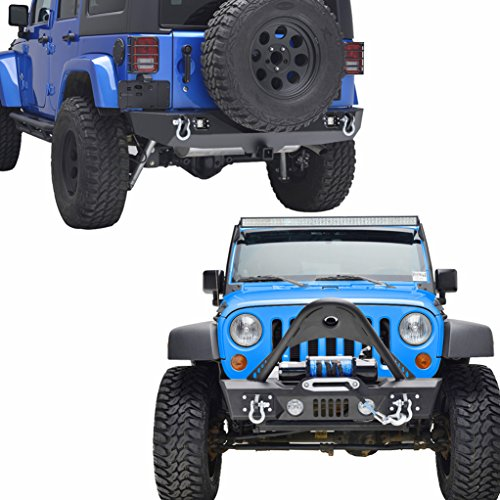 E-Autogrilles-07-17-Jeep-Wrangler-JK-Stinger-Front-Bumper-and-Rear-Bumper-With-LED-Light-2-Hitch-Receiver-Combo-51-036651-0310L