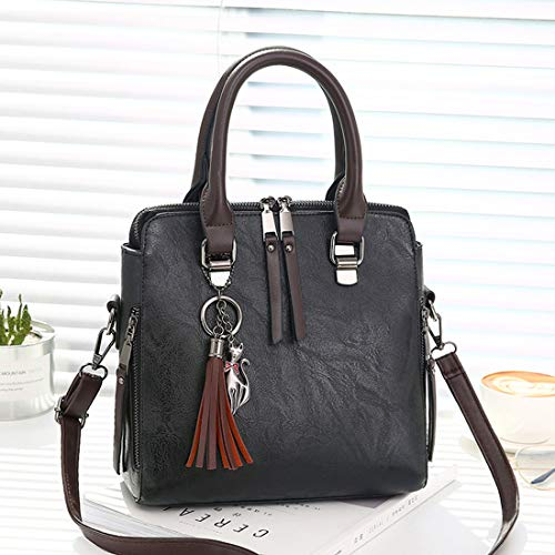 Red Fashion Wine colore Wild Casual Women Bag Baachang Handbag Commute Messenger Shoulder Zipper Nero Hand Double xFFqw0a6
