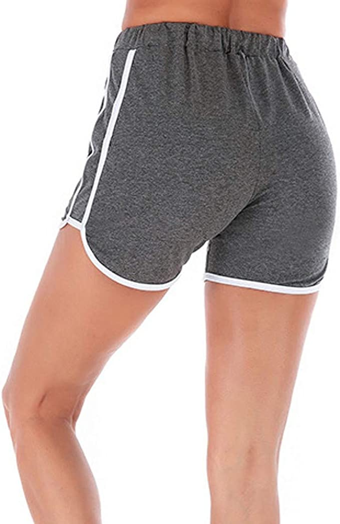 FIRSS Damen Shorts Streifen Kurz Hose High Waist Sporthose Yoga Fitness Leggings Sport Schlafanzughose Pyjamahose Baumwolle Tights Radlerhose Nachtw/äsche Pants