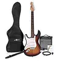 LA Left Handed Electric Guitar + Amp Pack Sunburst