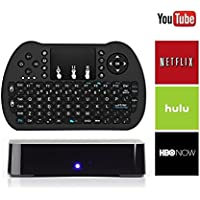 Multimedia Android TV Box + Mini Keyboard - A Powerful Streaming Media Player - Quad Core Processor - Easy to Use Interface - No Additional Hardware or Software Needed - Full Feature Remote