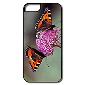 IPhone 5/5S Protector, Dinner Two Butterfly Cases For IPhone 5 5S - White/black Hard Plastic