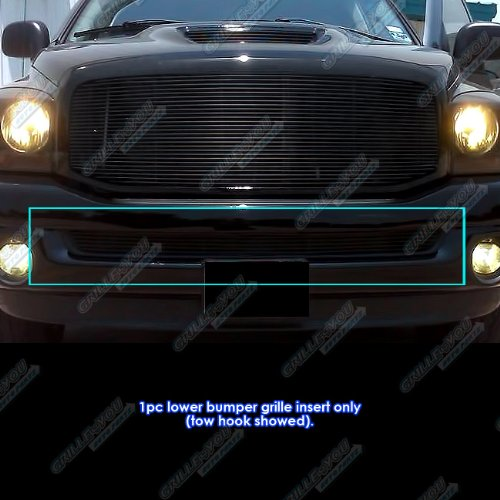 - APS D65375H Black Powder Coated Grille Bolt Over for select Dodge Ram 1500 Models